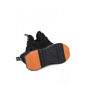 Мъжки обувки с оранжева подметка