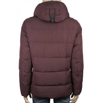 Зимно мъжко яке в цвят бордо