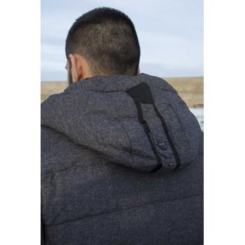 Зимно яке с биопух в сиво