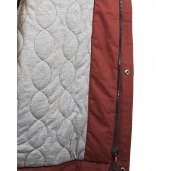 Мъжко яке в цвят тъмна керемида
