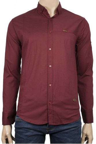 Мъжка риза в бордо