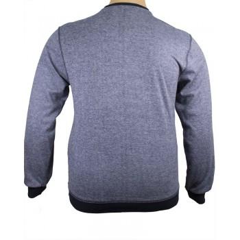 Мъжка блуза в син меланж