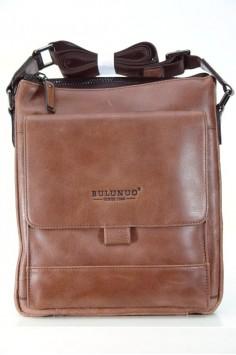 Мъжка чанта от естествена кожа в кафяво