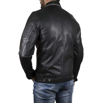 Мъжко яке от перфорирана кожа №311391