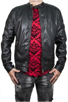 Пролетно-есенно яке в черно с цип