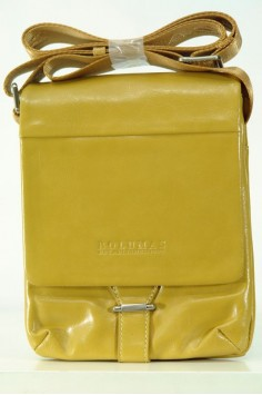 Мъжка чанта в цвят горчица