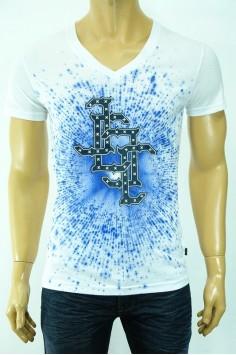 Модерна мъжка тениска в два цвята