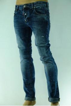 Мъжки модерни дънки с пръски