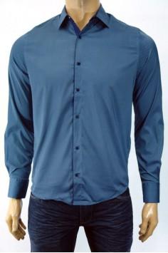 Мъжка риза в тъмно синьо