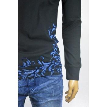 Модерна мъжка блуза с флорални орнаменти