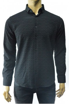 Модерна мъжка риза в черно