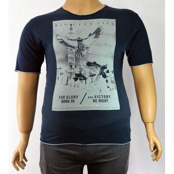 Модерна мъжка тениска в два цвята (от 3XL до 5XL)