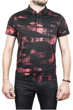 Луксозна тениска с черна яка