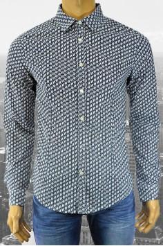 Мъжка риза с десен на пингвини в два цвята