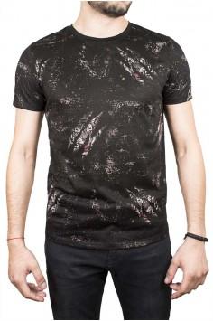 Тениска в черно с тигров образ