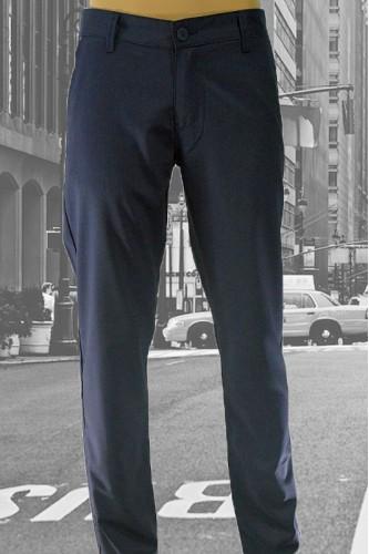 Стилен мъжки панталон в тъмно синьо