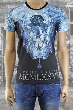 Модерна мъжка тениска с череп в два цвята
