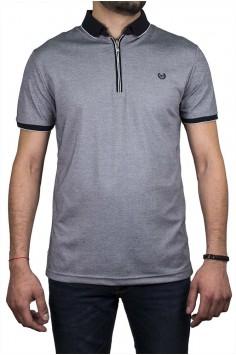 Стилна мъжка тениска в сиво