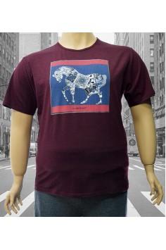 Мъжка тениска с принт- кон (от 3XL до 6XL)