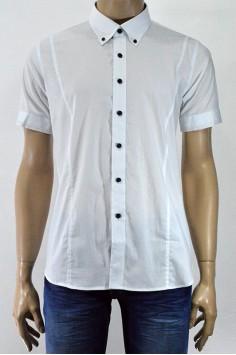 Мъжка риза с къс ръкав в два цвята