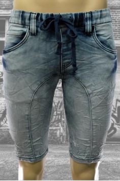 Спортно-елегантни мъжки къси дънки с връзки