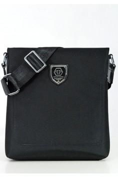 Модерна мъжка чанта с метална емблема