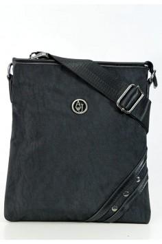 Модерна мъжка чанта в черно