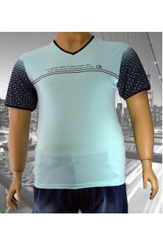 Стилна мъжка тениска в два цвята (от 2XL до 5XL)