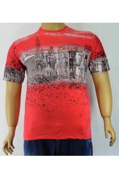 Мъжка тениска с актуален принт (от 2XL до 5XL)