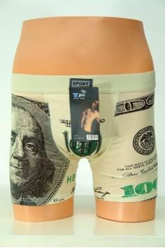 Мъжки боксер с щампа на долар