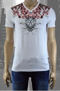 Стилна мъжка тениска в два цвята с интересен принт
