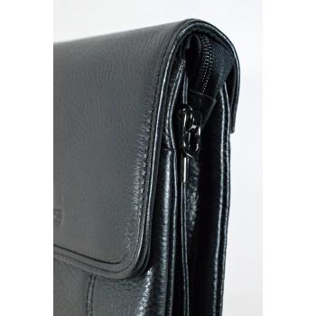Изчистена стилна мъжка чанта от естествена кожа