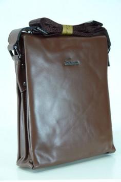 Мъжка чанта в кафяв цвят от естествена кожа