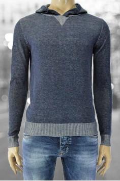 Мъжка блуза плетиво с качулка