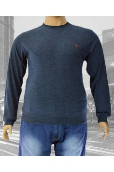Мъжка блуза с обло деколте (Големи размери)
