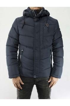 Мъжко зимно яке в тъмно син цвят