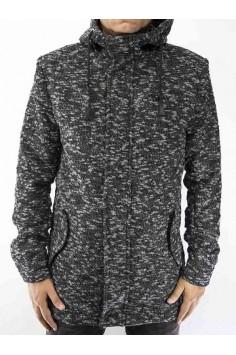 Мъжко спортно издължено зимно палто