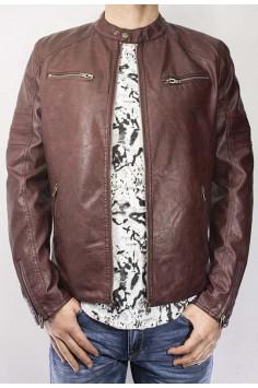 Мъжко яке от изкуствена кожа в два цвята