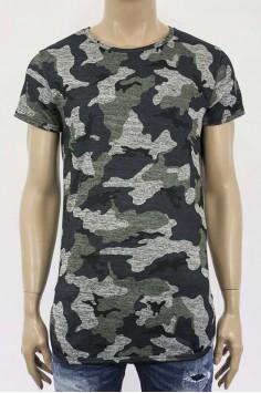 Мъжка тениска с камуфлажен десен