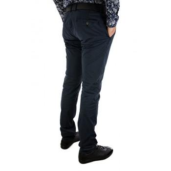 Мъжки панталон в тъмно син и бежов цвят