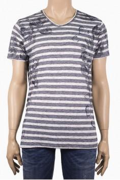 Мъжка тениска с принт на листа