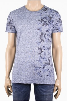 Мъжка тениска с принт на птички