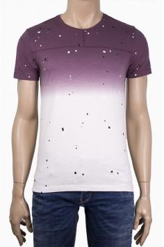 Мъжка тениска с пръски боя
