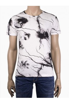 Мъжка тениска с мраморен ефект