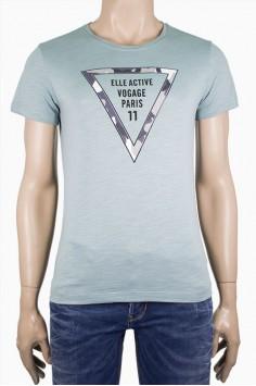 Мъжка тениска с камуфлажен триъгълник